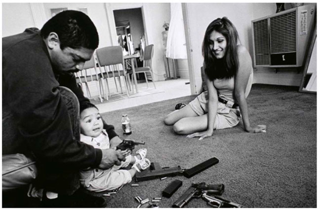 Joseph Rodriguez, 'The morning after a rival gang tried to shoot Chivo'., 1993. Collection ICP, NY