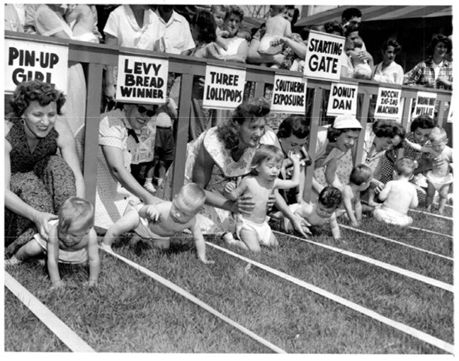 Diaper Derby, 1950s, Collection Spaarnephoto.